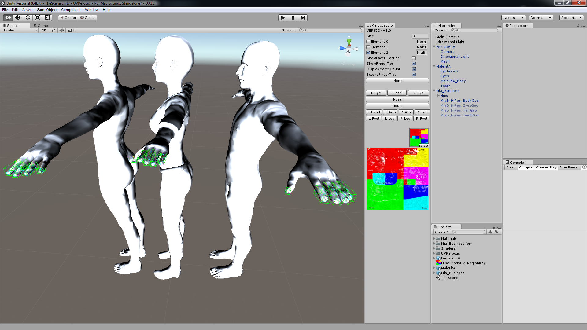 Preparing UVs for Mixamo FUSE + (Mixamo Content and Services are